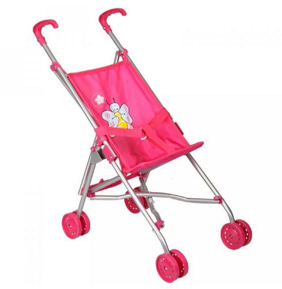 Boncare Kočárek pro panenky golfové hole růžové s motýlkem