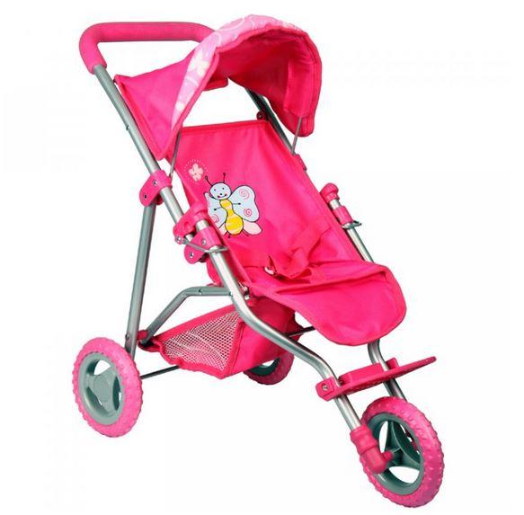 Boncare Kočárek pro panenky TM1 růžový s motýlkem