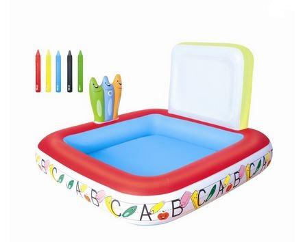 Bestway 52184 dětský bazének s pastelkami 132 x 132 x 81 cm