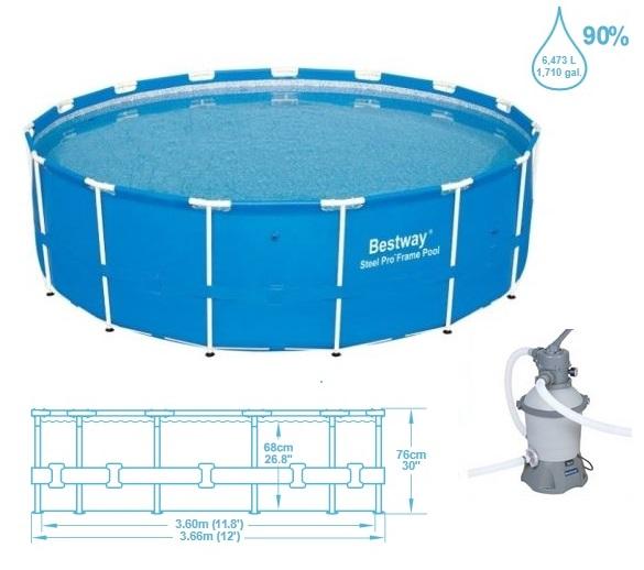 Bazén BESTWAY Steel Pro Frame 366 x 76 cm 56417 2v1