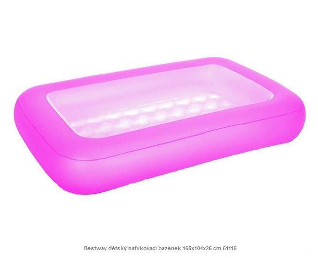 Bestway dětský nafukovací bazének 165x104x25 cm 51115 růžová