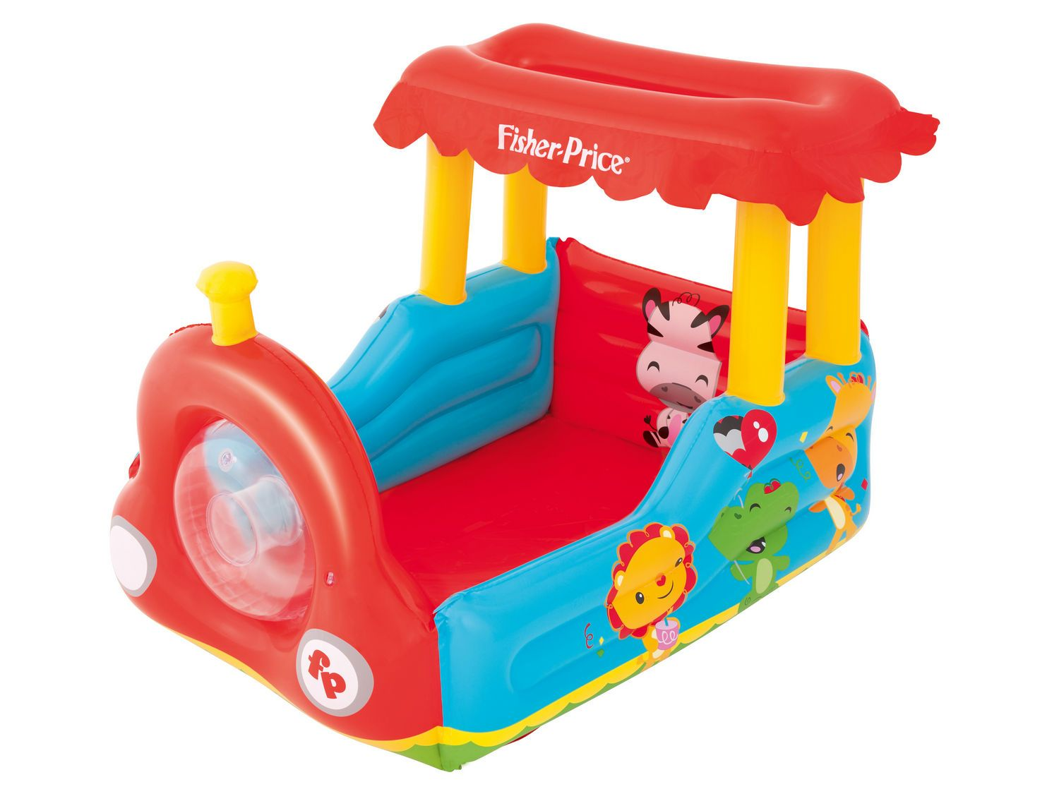 Bestway 93503 Fisher Price lokomotiva s 25 míčky