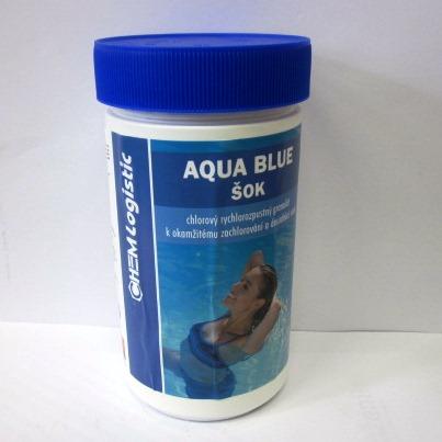 Bazénová chemie AQUA BLUE Chlor ŠOK 1kg